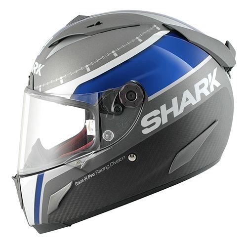 casque int gral shark race r pro carbon dual touch gris bleu blanc casques moto sur la b canerie. Black Bedroom Furniture Sets. Home Design Ideas