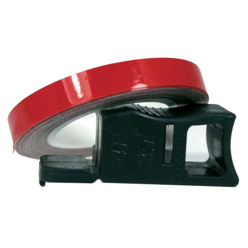 Liseret de Jante Chaft rouge réfléchissant  7mm x 1,5m avec applicateur