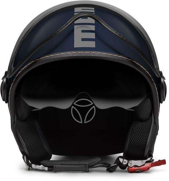 casque jet momo design fgtr evo bleu mat argent casques moto sur la b canerie. Black Bedroom Furniture Sets. Home Design Ideas