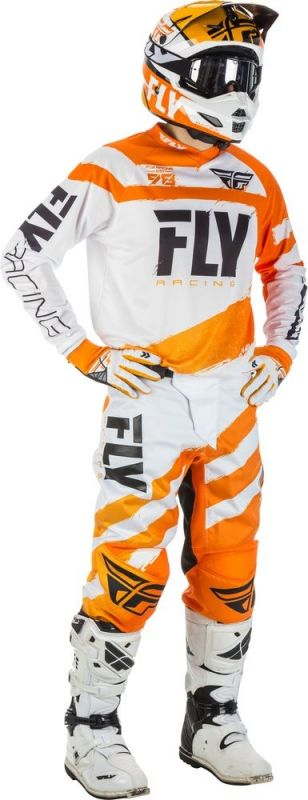 Maillot cross enfant Fly Racing F-16 orange/blanc - 2
