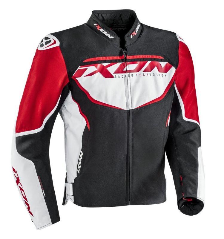 Blouson textile Ixon SPRINTER noir/blanc/rouge