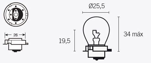 ampoule 6v 15w type s3 culot p26s pi ces electrique sur la b canerie. Black Bedroom Furniture Sets. Home Design Ideas