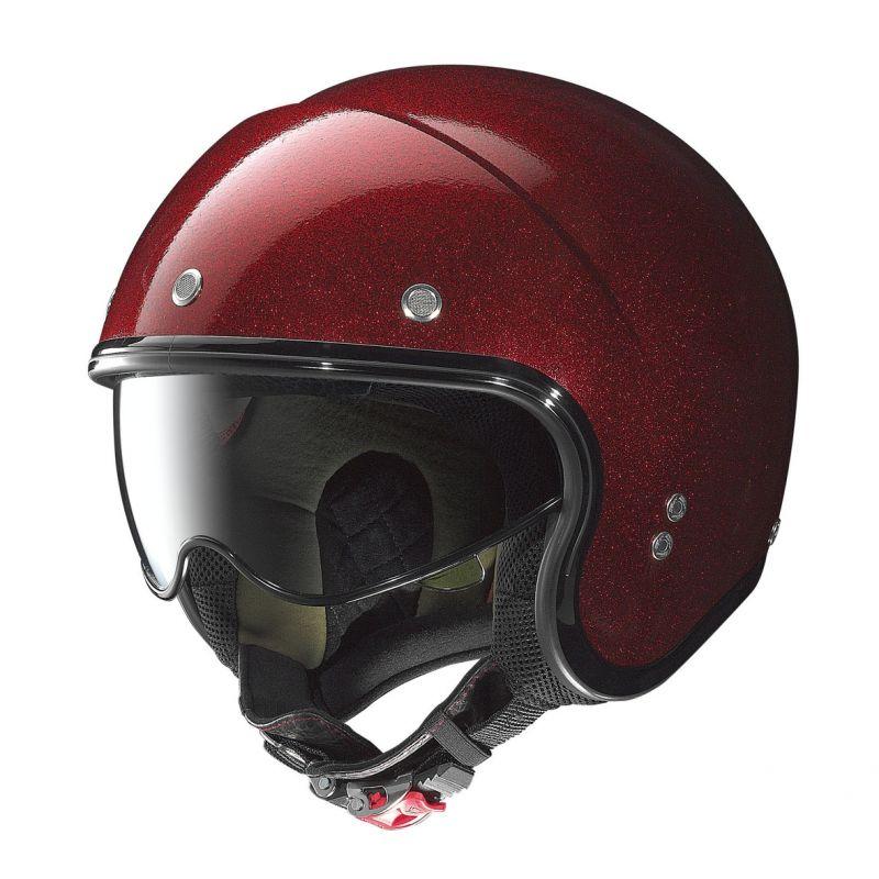 casque jet nolan n21 durango rouge paillet casques moto sur la b canerie. Black Bedroom Furniture Sets. Home Design Ideas