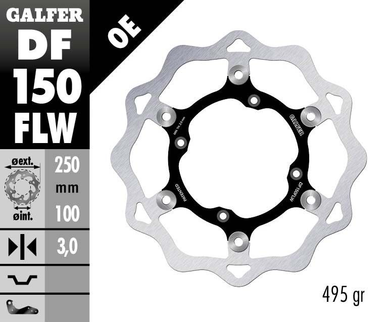 Disque de frein Galfer wave flottant 250x3mm DF150FLW - 1