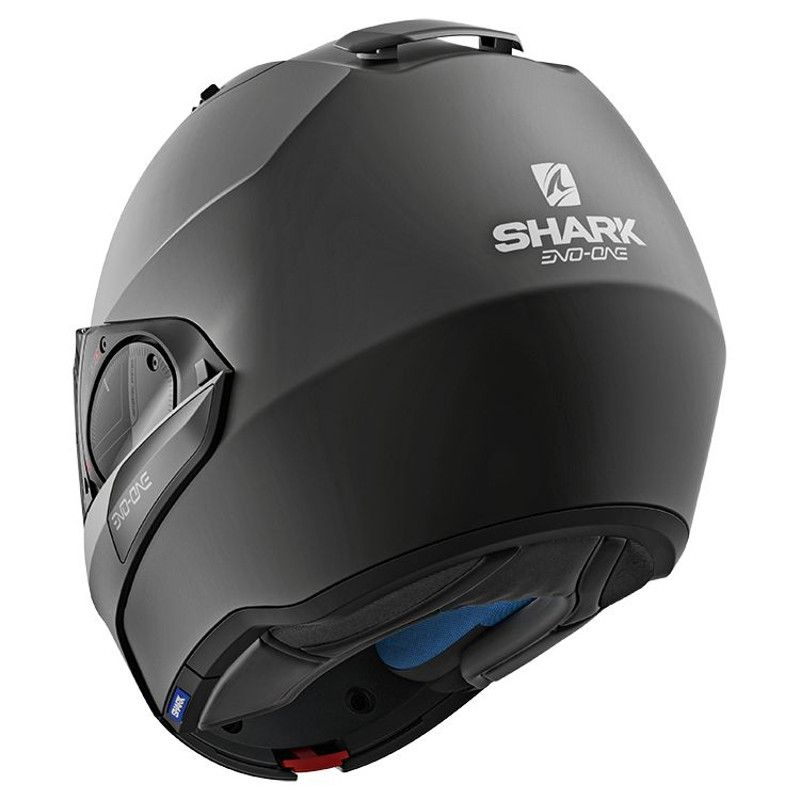 Casque modulable Shark EVO-ONE 2 BLANK MAT noir - 1