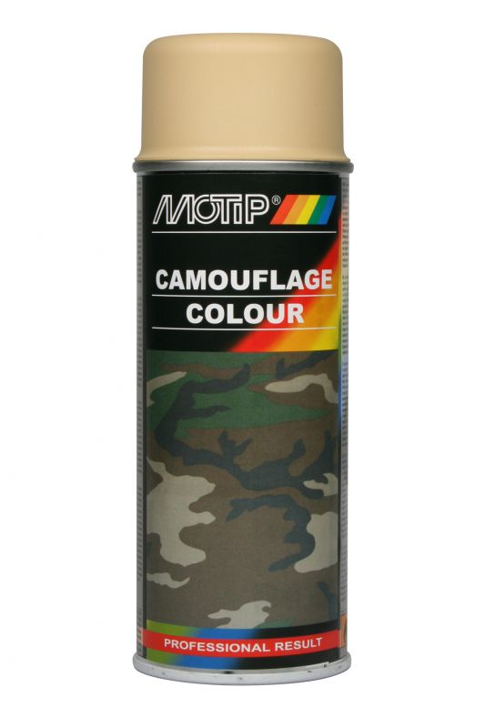 bombe peinture camouflage beige mat ral 1001 motip 400 ml. Black Bedroom Furniture Sets. Home Design Ideas