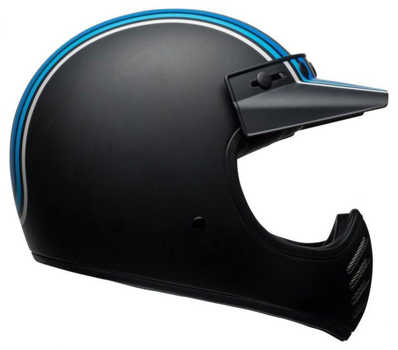 Casque Bell Moto 3 Matte argent/noir/blue Stripes - 2
