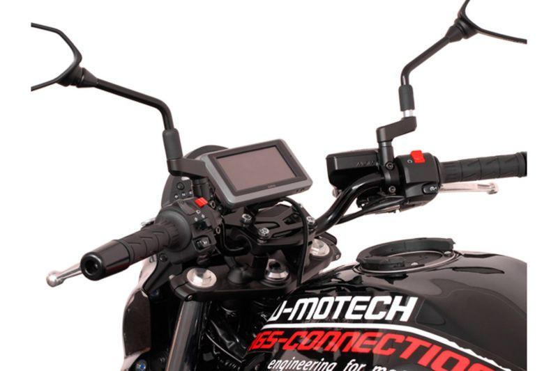 Kit d'adaptation Garmin Zumo 340/350/390/590/595/660 noir pour support GPS SW-MOTECH Nonshock / QUIC - 1