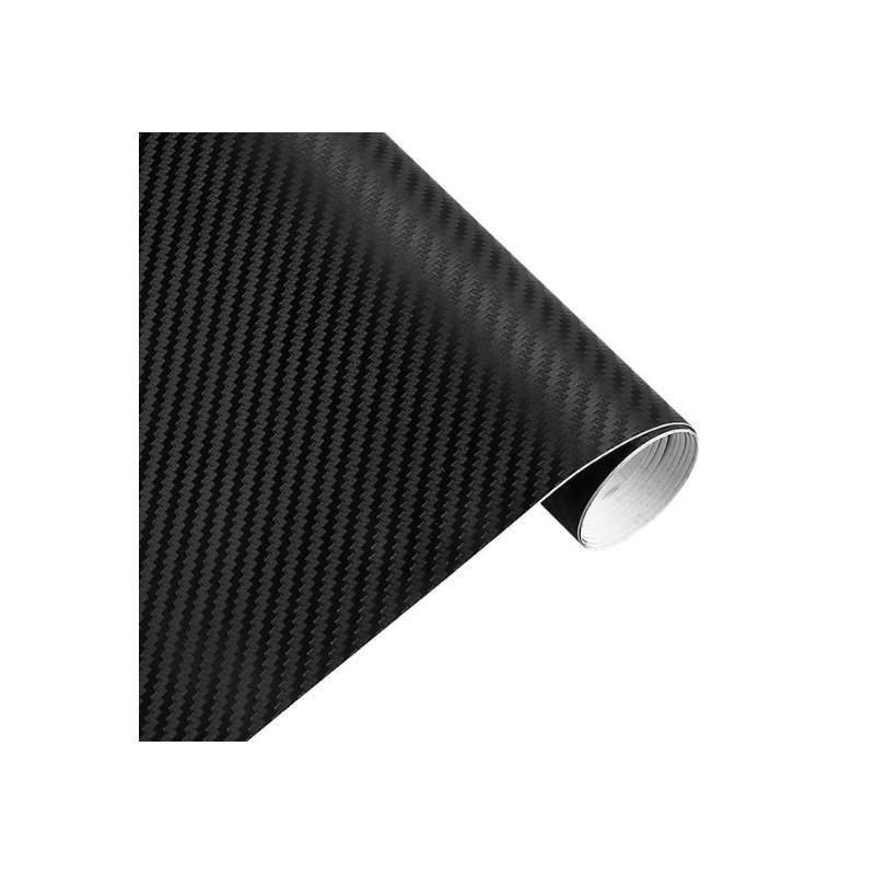 Rouleau d'adhésif covering carbone noir mat 200cm x 30cm - 1