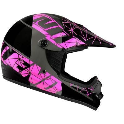 Casque cross enfant Noend Origami glossy pink - 1