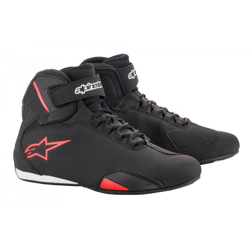 Chaussures moto Alpinestars Sektor noir/rouge