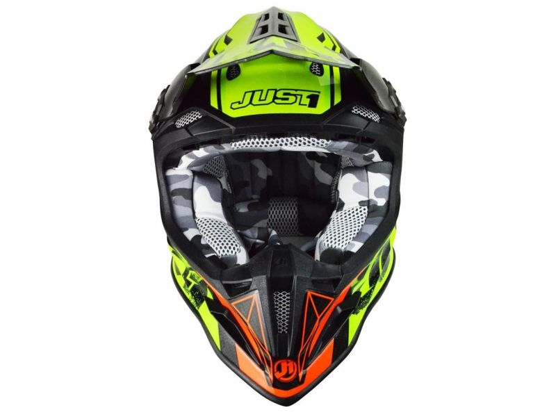 Casque cross Just1 J12 Dominator rouge/jaune - 1