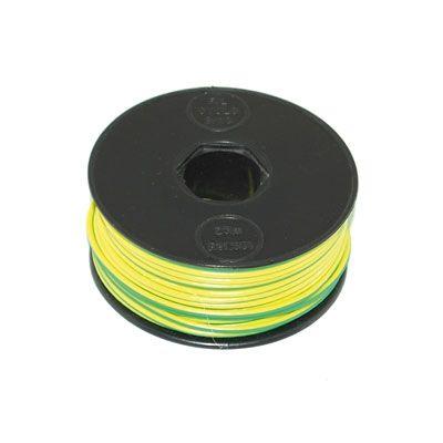 Fil lectrique jaune vert 9 10 bobine 25 m atelier stand sur la b canerie - Bobine fil electrique ...