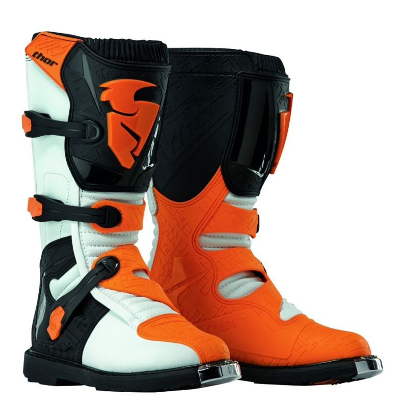 Bottes cross Thor BLITZ blanc/orange