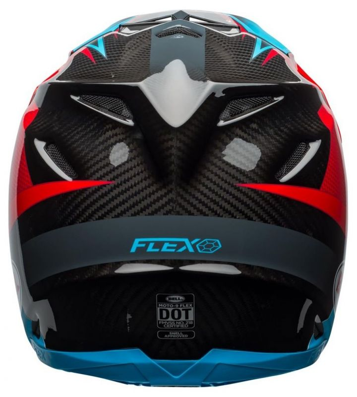 Casque cross Bell Moto 9 Flex Hound Gloss bleu mat/rouge - 8