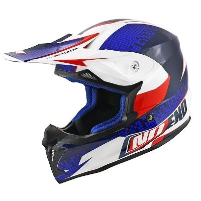 Casque cross Noend Defcon By OCD TX696 Patriot bleu/blanc/rouge