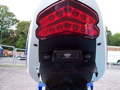 Support de plaque d'immatriculation R&G Racing noir Suzuki GSX-R 600 04-05 - 3