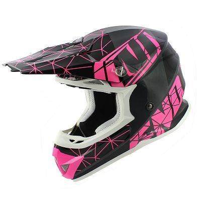 Casque cross Noend Origami Glossy Pink SC15