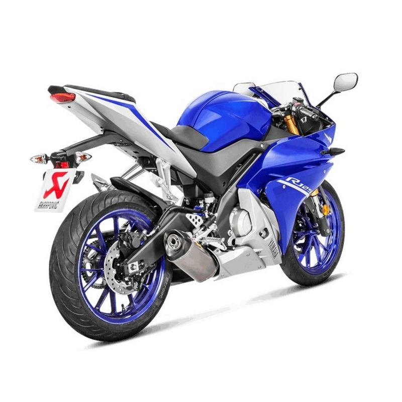 ligne compl te akrapovic racing line s y125r4 hrt titane yamaha yzf r 125 14 17 euro 4 pi ces. Black Bedroom Furniture Sets. Home Design Ideas