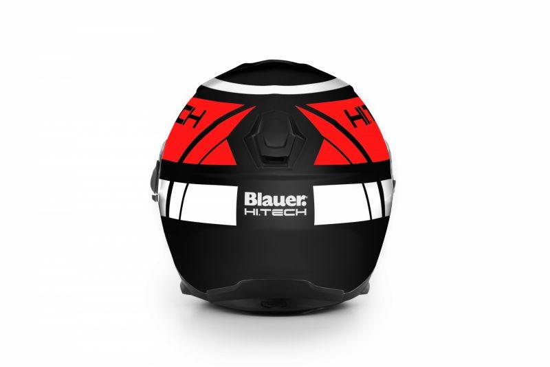 Casque Blauer Force One 800 Noir/Rouge/Blanc Mat - 2