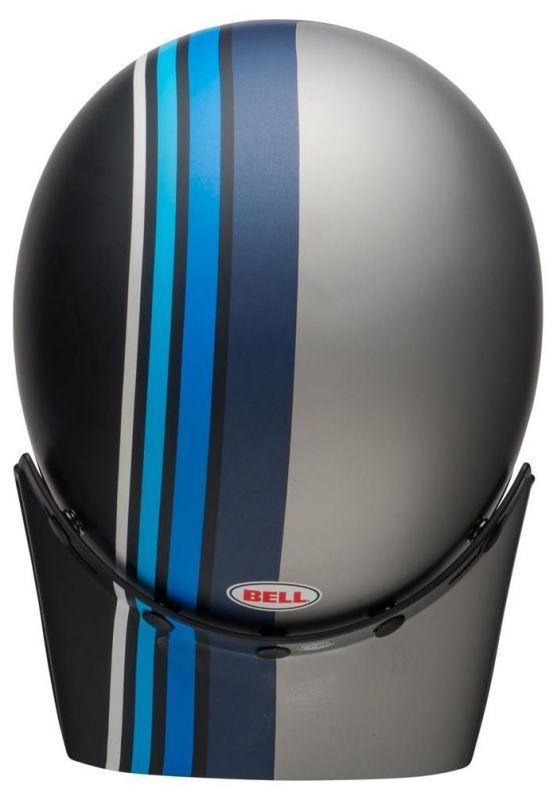 Casque Bell Moto 3 Matte argent/noir/blue Stripes - 3