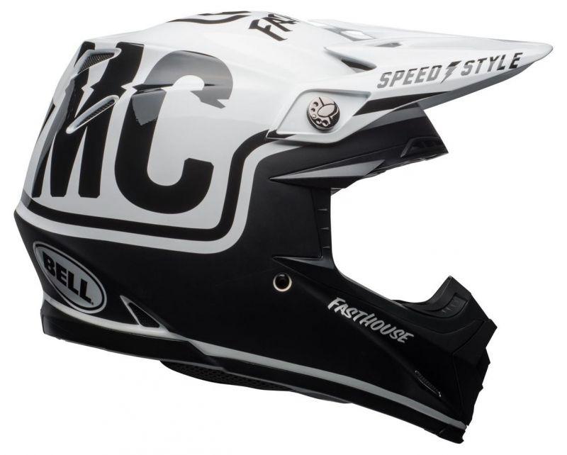 Casque cross Bell Moto 9 Mips Fasthouse Gloss noir mat/blanc - 6