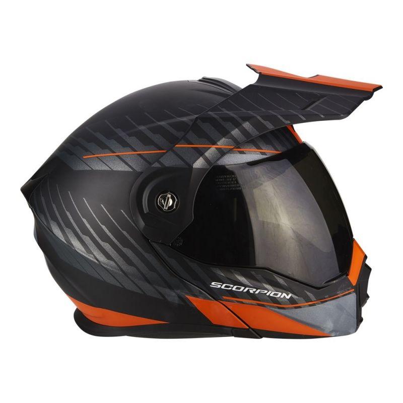 casque modulable scorpion adx 1 dual noir mat orange casques moto sur la b canerie. Black Bedroom Furniture Sets. Home Design Ideas