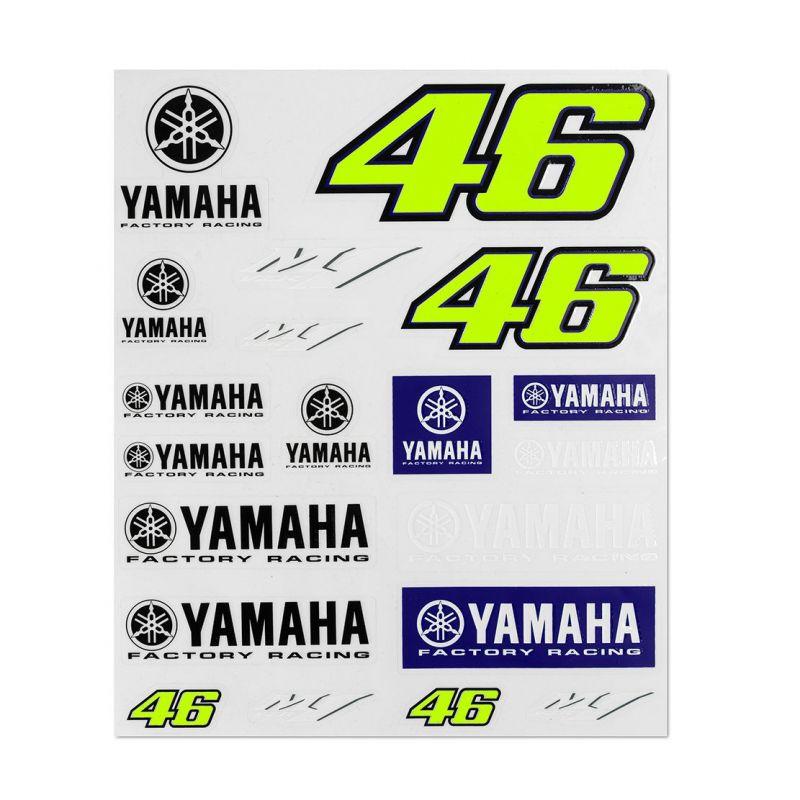 Planche d'autocollants VR46 Yamaha Dual Racing 2019
