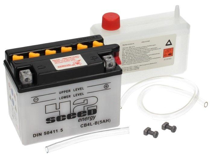 Batterie Sceed 42 YB4L-B 12V 5Ah avec pack acide - 2