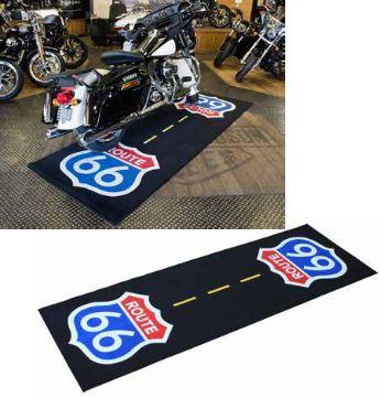 tapis de garage route 66 280x100cm atelier stand sur la b canerie. Black Bedroom Furniture Sets. Home Design Ideas