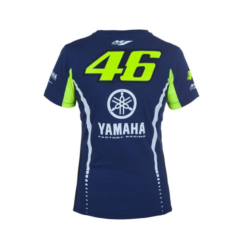 tee shirt femme vr46 valentino rossi yamaha racing 2017 sportswear sur la b canerie. Black Bedroom Furniture Sets. Home Design Ideas
