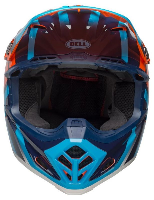 Casque cross Bell Moto 9 Mips Gloss bleu/orange district - 3