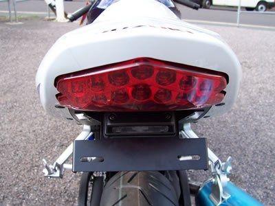 Support de plaque d'immatriculation R&G Racing noir Suzuki GSX-R 600 04-05 - 4