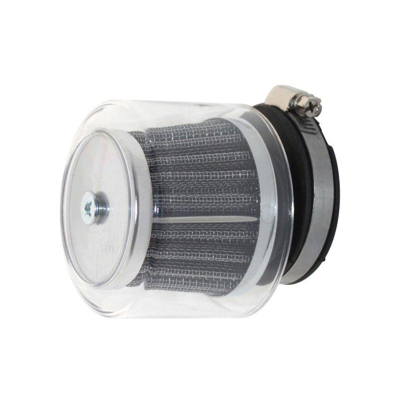 filtre air replay sha kn chrome avec transparent pi ces carburation sur la b canerie. Black Bedroom Furniture Sets. Home Design Ideas