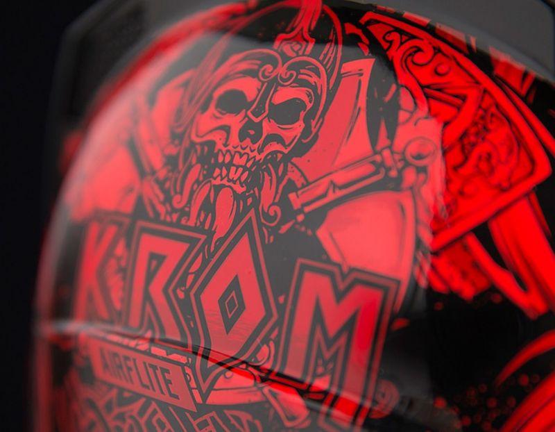 Casque intégral Icon Airflite Krom rouge/noir - 3