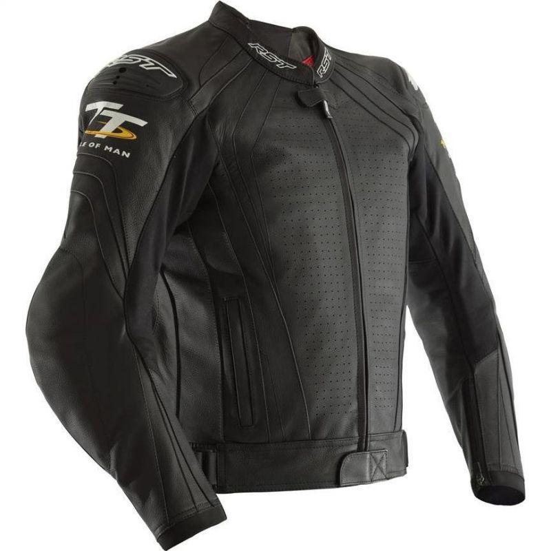 Blouson cuir RST Iom TT Grandstand CE noir - 1
