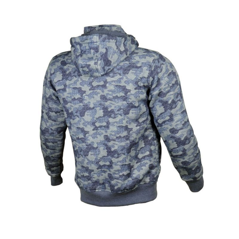 sweat capuche booster hoodie kevlar core camouflage bleu quipement route sur la b canerie. Black Bedroom Furniture Sets. Home Design Ideas