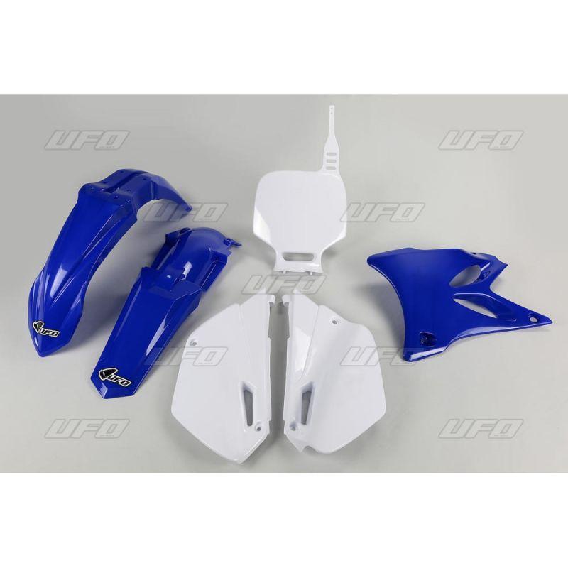 Kit plastique UFO restylé Yamaha 85 YZ 02-12 bleu/blanc (couleur origine)
