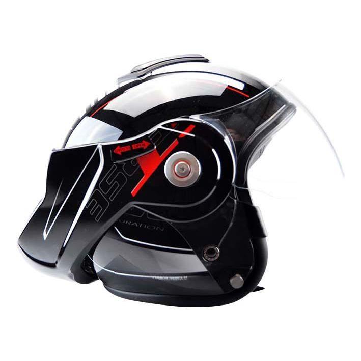 Casque modulable T-705 Reverse noir / rouge - 1