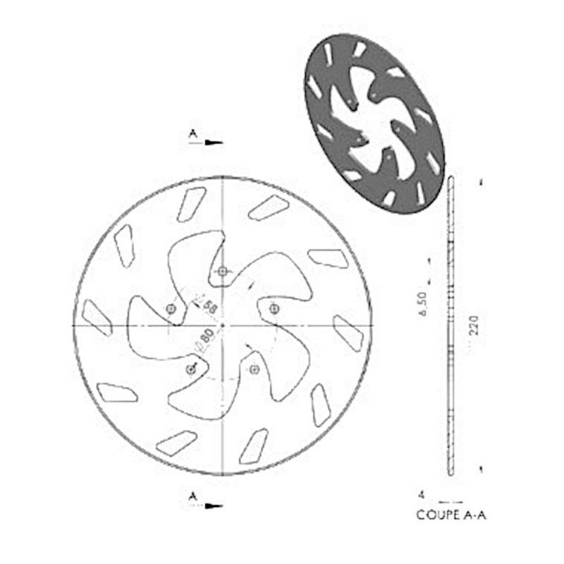 Disque de frein NG Brake Disc D.220 - 365