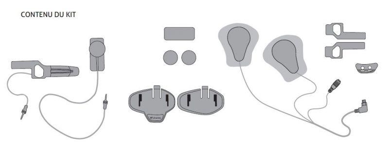 Kit audio Cellularline Pro Sound Confort pour casque HJC - 2
