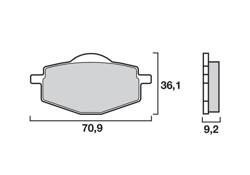 plaquettes de frein brembo carbone c ramique 07ya1407 pi ces freinage sur la b canerie. Black Bedroom Furniture Sets. Home Design Ideas