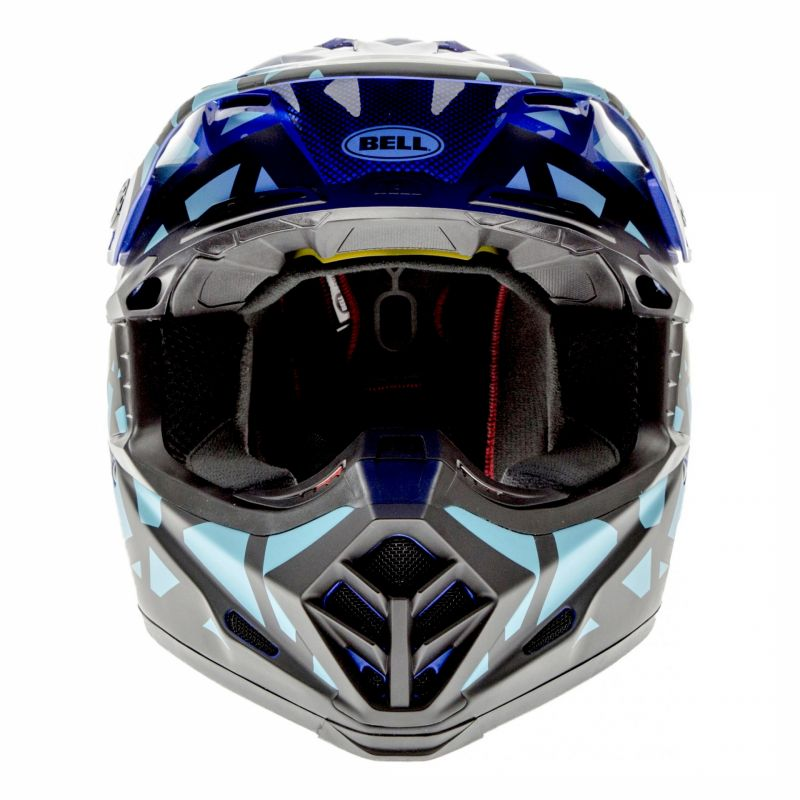Casque cross Bell Moto-9 Mips Tremor bleu/noir - 3