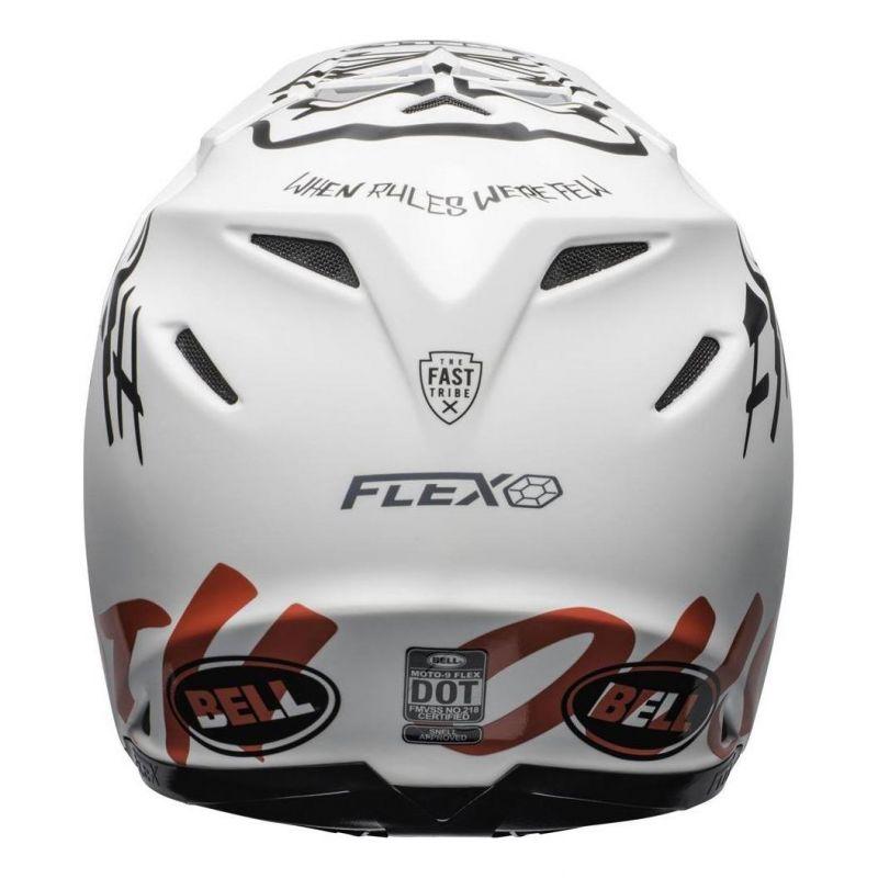 Casque cross Bell Moto 9 Flex Fasthouse WRWF mat/brillant blanc/rouge - 2