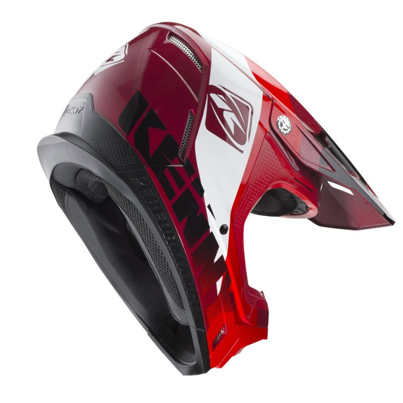 Casque cross Kenny Performance rouge candy - 1