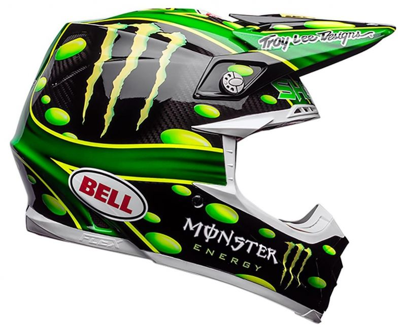 Casque cross Bell Moto 9 Flex MC Grath Monster Replica 18.0 Gloss - 3