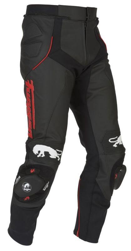 pantalon cuir furygan raptor noir rouge quipement route sur la b canerie. Black Bedroom Furniture Sets. Home Design Ideas