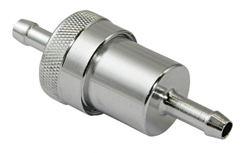 Filtre à essence BikeTek metal Ø6 mm silver