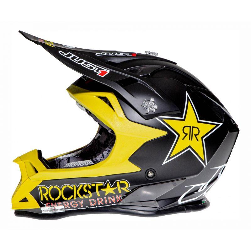 Casque cross Just1 J32 Rockstar noir mat - 1
