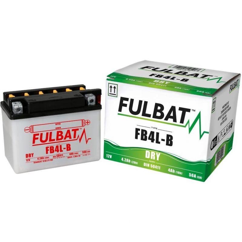 batterie yb4l b fulbat 12v 4ah pi ces electrique sur. Black Bedroom Furniture Sets. Home Design Ideas
